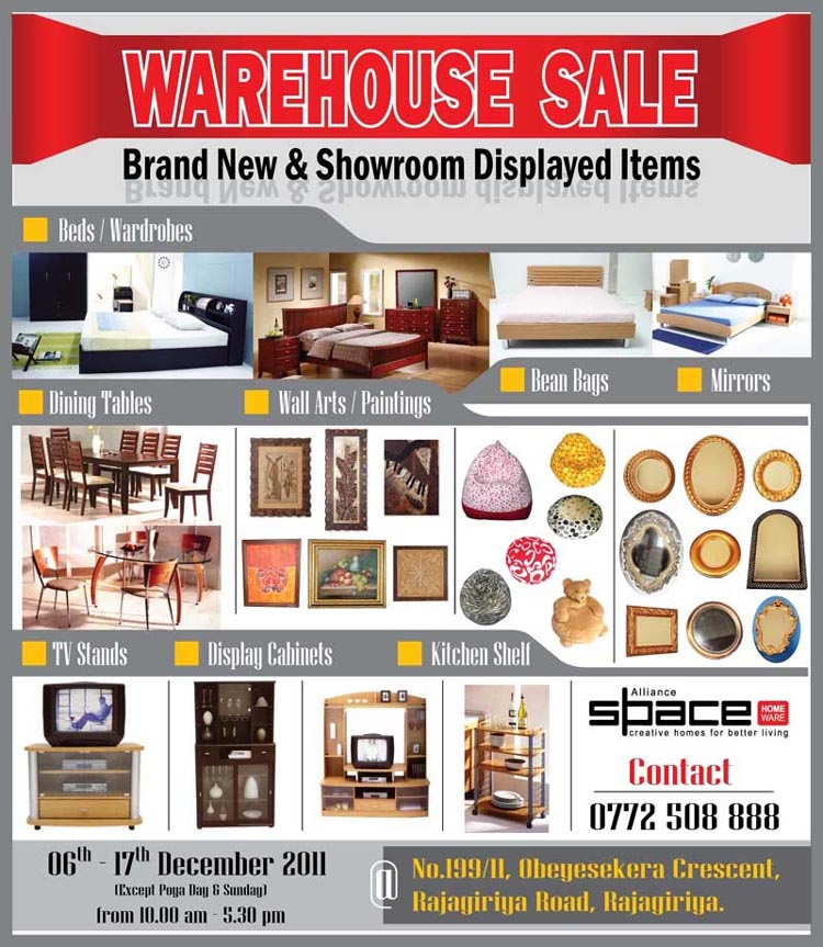 Warehouse(Pvt)ltd – Manufacturing household items.