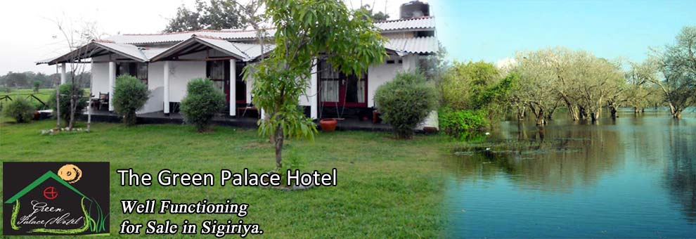 Well Functioning Green Palace Hotel for Sale in Sigiriya.