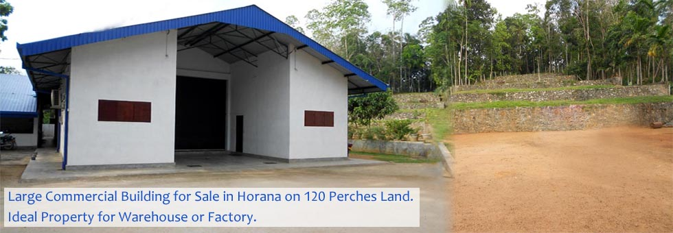 120 Perches Land & Newly Constructed Commercial Building for Sale at Horana.