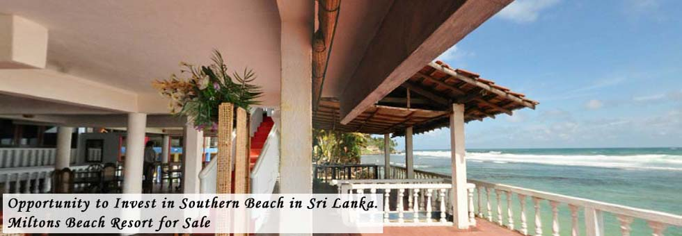 Opportunity to Invest in Southern Beach in Sri Lanka