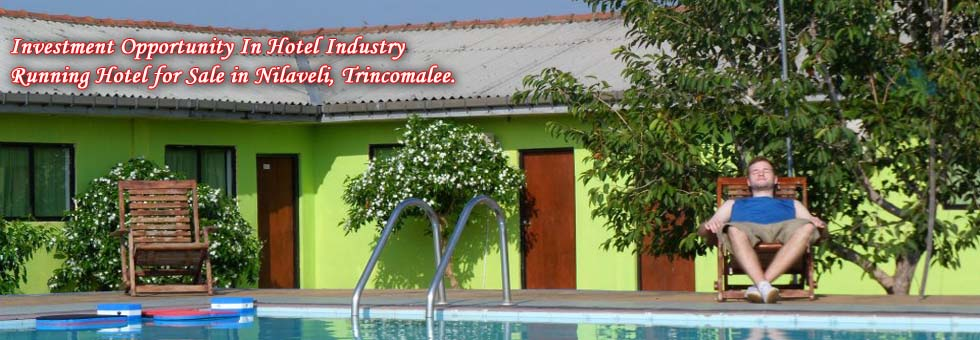 Running Hotel for Sale in Nilaveli, Trincomalee.