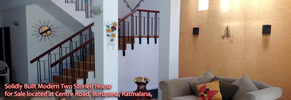 Modern house for sale at borupana ratmalana for Balcony designs pictures sri lanka