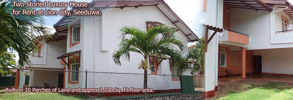 Two Storied Luxury House for Rent at Lion City, Seeduwa.