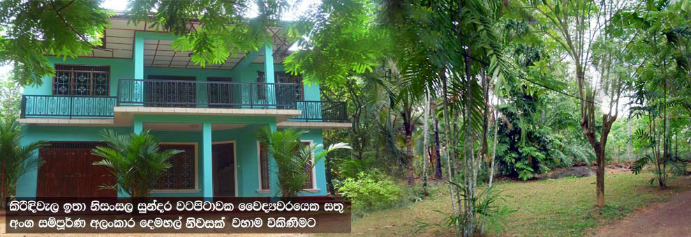 Doctor Owned Recently Fully Renovated Two Storeyed Spacious House for Sale in Kirindiwela. (Gampaha District). Approx 2,800 Sq.Ft Floor area & built on 50 Perches well maintained land. The garden area and nice view offering residents a spectacular view.
