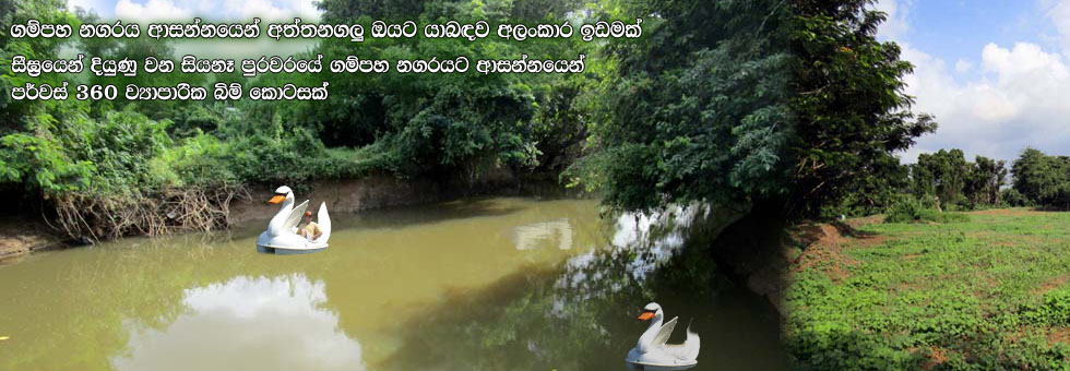Water Front Land for Sale in Akaravita, Gampaha.