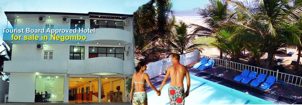 Well Functining Tourist Board Approved Hotel for sale in Negombo with 7/ 8 liquer license, built on 24 Perches. Situated Best area of the beach hotel side. Conveniently placed just 10 Km away from Bandaranaike International Airport. This Beach Hotel is a beautiful beachfront property featuring an outdoor swimming pool.