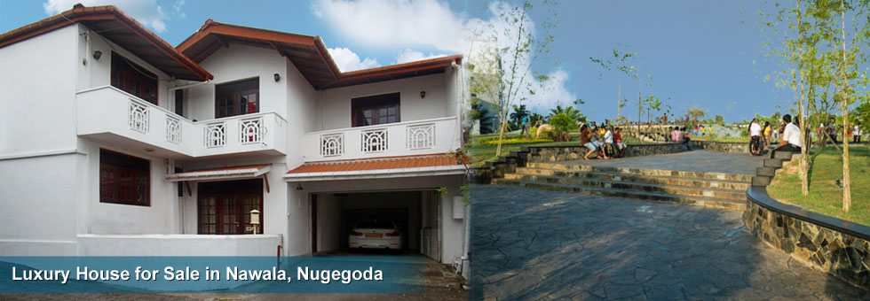 Two Storied Luxury House available for Sale at Nawala Road, Nugegoda. House built on 7 Perches Land area and 3,400 Sq.Ft. floor area