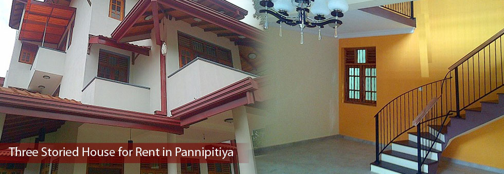 Three Storied House for Rent in Pannipitiya.