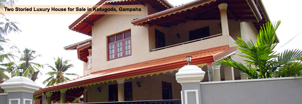 Two Storied House available for Sale in Kotugoda Gampaha, built on 12.5 Perches Land area. Very convenient location close to Colombo – Kurunagala (Route 5) road.
