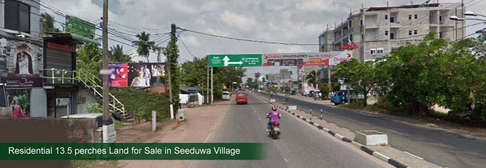 Residential Land for Sale in Seeduwa Village. Just 30 meters to Colombo – Negombo main road. Just few minutes to Seeduwa town and easy access to Katunayake International Airport.One of the best area close to Ja-Ela l with good neighborhood.