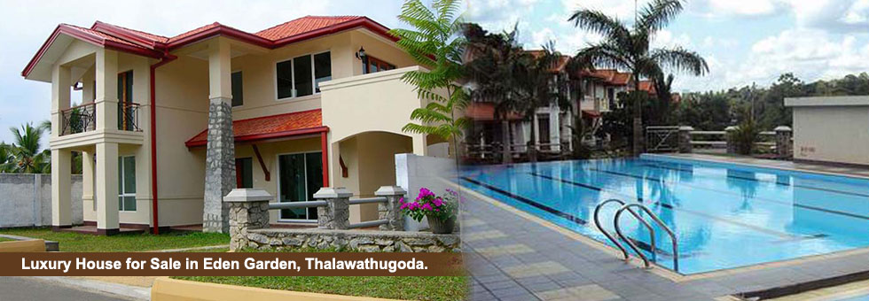Luxury House available for Sale in  Eden Garden, Samagi Mawatha, Thalawathugoda on 15 Perches of Land and 2,830 Sq.Ft. floor area.