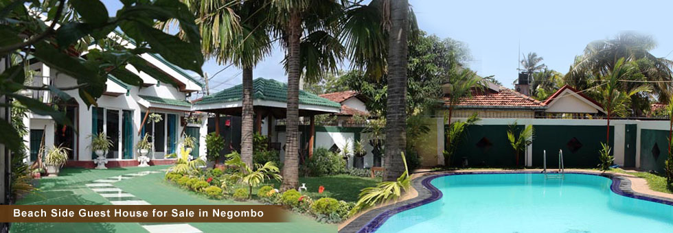 "Well Running Beach Side ""Romeo & Juliet"" Guest House for Sale in Ethukala, Negombo, Tourist area, just only 400 Meters walking distance to fabulous Negombo beach. Guest House situated in Land side from Beach road at St. Joshap Mawatha."