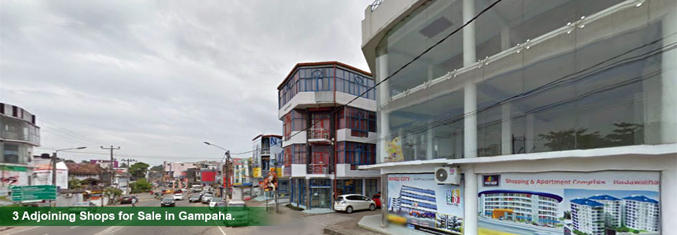 3 adjoining shops for Sale in Sanasa Square Shopping Complex, Courts Road, Gampaha, in 1st floor. These can be used as 3 different units also. This location is one of the best business areas in Gampaha city.
