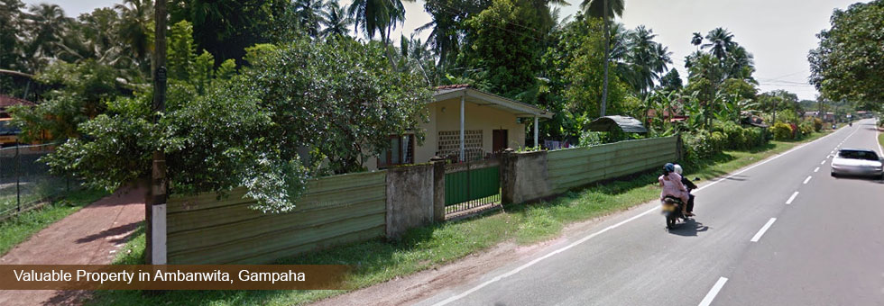 18 Perches Land with House or Sale in Ambanwita, Gampaha facing to Gampaha Ja-Ela main Road, road frontage over 40 Feets and suitable for both commercial and residential purpose.