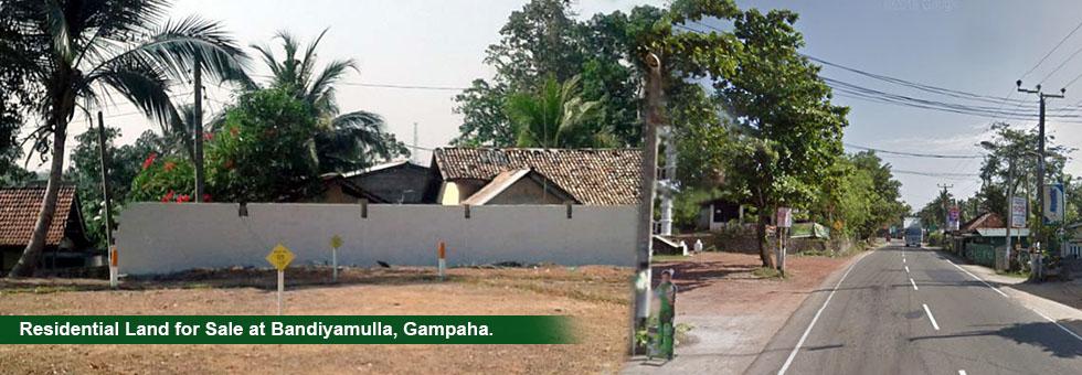Land for Sale in Gampaha, bandiyamulla