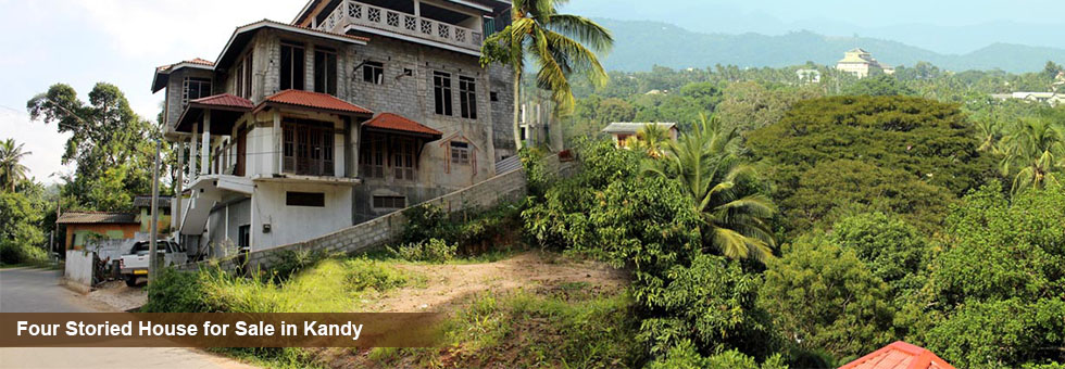 Four Storied House cum Commercial Building for Sale in Kandy. 7 km to Kandy Town. Just few mints walk to Haragama Kandy main road. Panoramic view of Mountain ranges. This area rapidly developing and land price ever increasing.