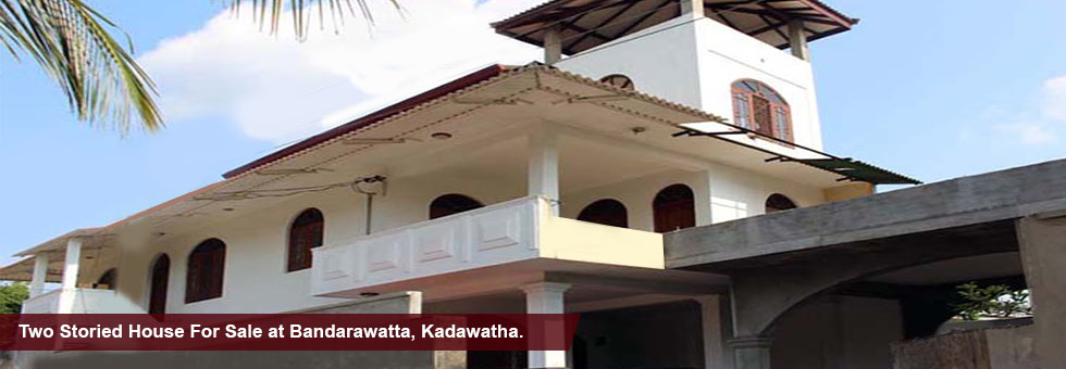 Complete Two Storied House for Sale at Bandarawatta, Kadawatha. Consits 6 bedrooms, bathroom, living/ dining, party, kitchen, veranda, balcony & other necessary facilities. Less than 100 m to Kandy road and close proximity to Kadawatha city center.