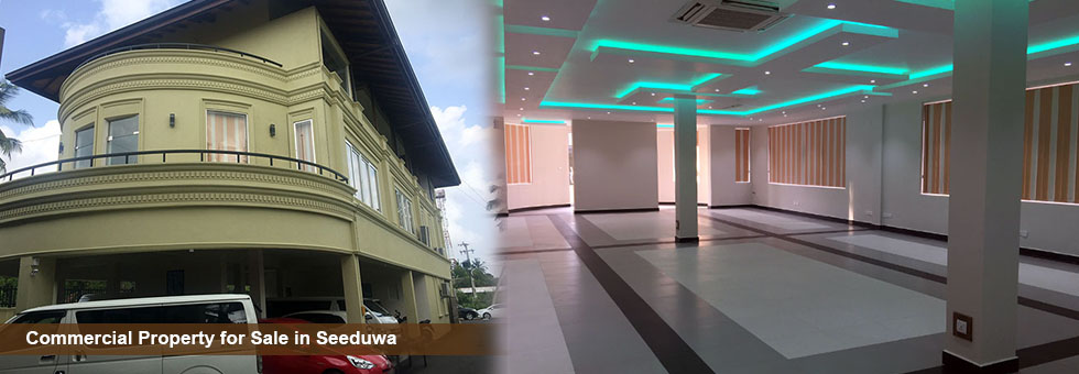 Brand New Prime Residential cum Commercial Property for sale in Seeduwa, katunayake. facing to Colombo Negombo main road and close to Katunayake International Airport. Built on 42 Perches Land  and Total Floor area – 15208 Sq.Ft with parking availability for around 25 + vehicles  2 Office space areas (Ground Floor & First Floor) with Including 2 Super Luxury 4 Bedroom Apartments (3rd & 4th Floors).