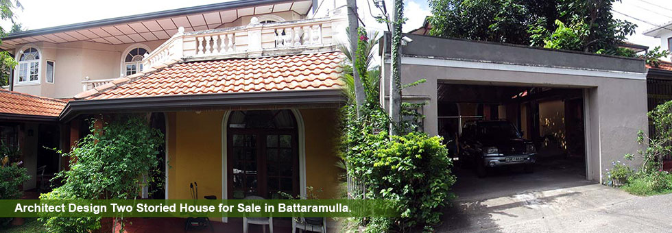 Architect Design Two Storied House for Sale in Battaramulla.