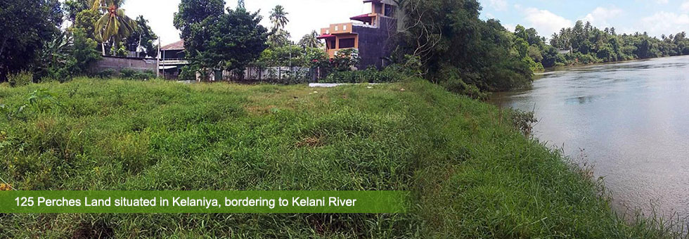Available for Sale 125 Perches Land situated in Kelaniya, bordering to Kelani River. Ideal for Hotel, Guest house or any kind of business purpose. Land bordering to Kelani River has beautiful view all round.