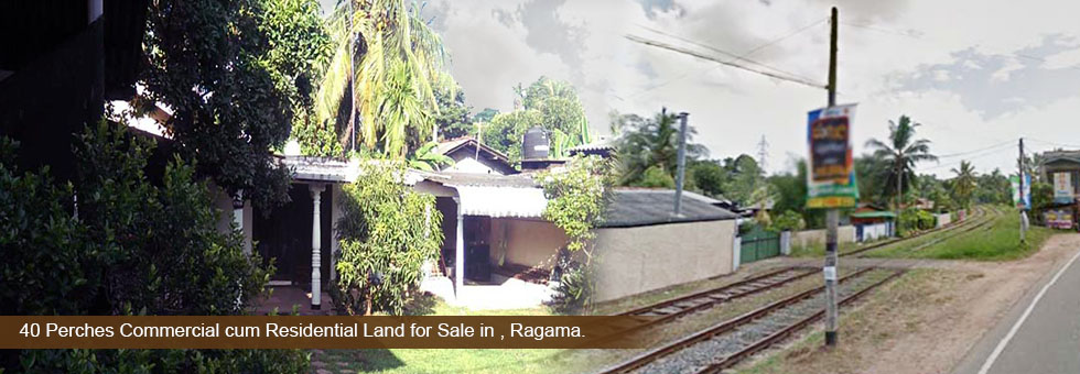 40 Perches Commercial cum Residential Land for Sale in Peralanda, Ragama. facing Kanda – Ragama main road. Road frontage is over 60 Ft. suitable for both residential or business purposes. Complete House available with basic facilities. Easy access to Colombo or any other destination by train.
