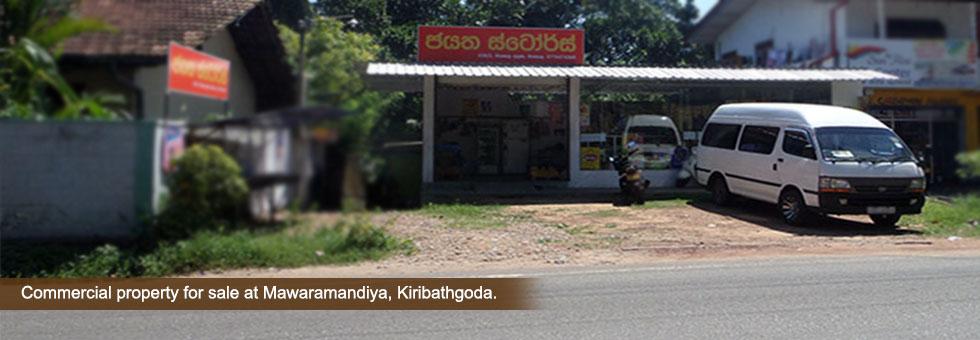15 Perches Land with ongoing retail outlet for Sale at Galwala Junction, Mawaramandiya, Kiribathgoda. Close proximity to Kiribathgoda town. Very close Southern High way entrance and Kandy road. Connvinient location close to both Kadawatha and Kiribathgoda city.